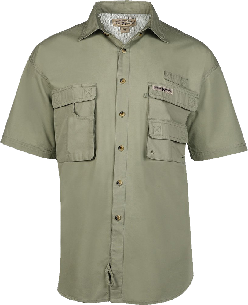 Hook tackle mens short sleeve fishing shirt sport shirts for Fishing shirts on sale