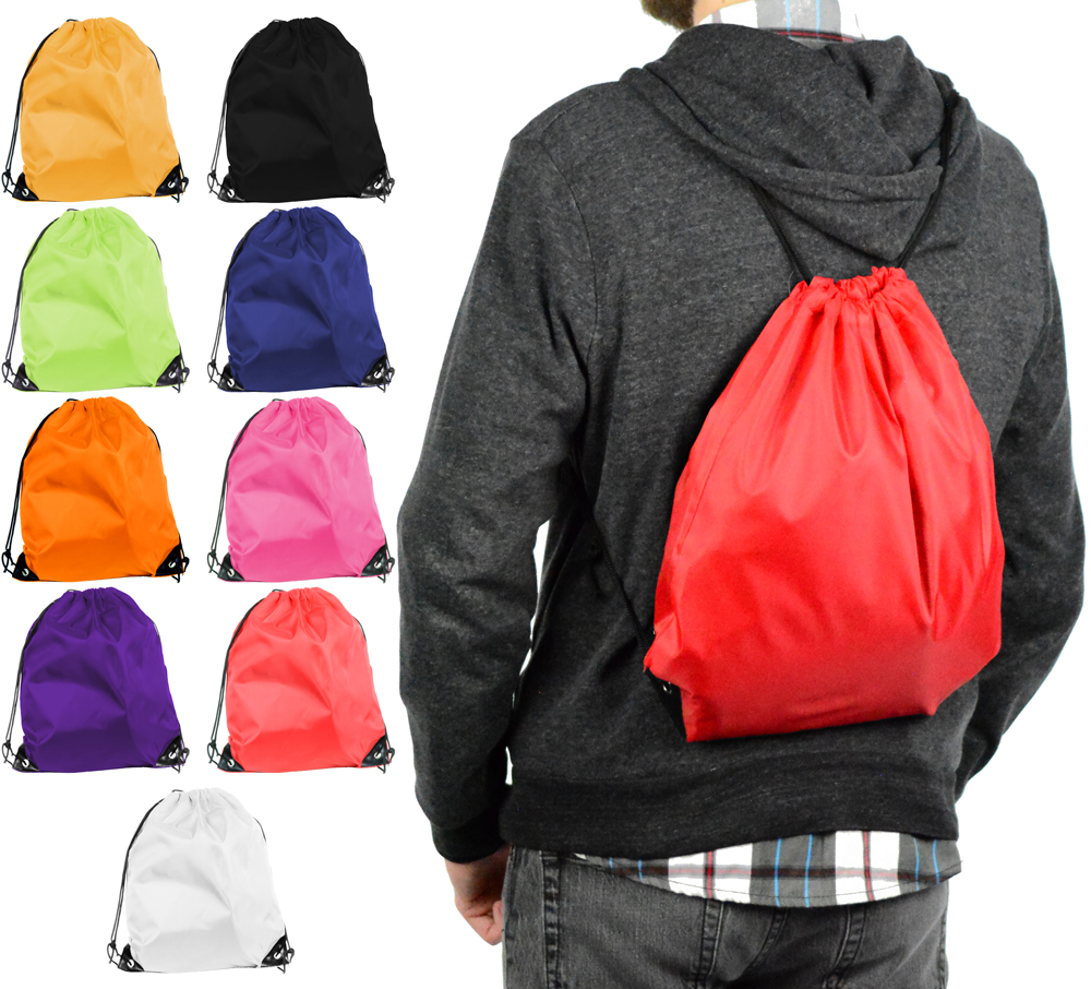 Mato & Hash Basic Cinch Sack Drawstring Pack Tote Promotion Back ...