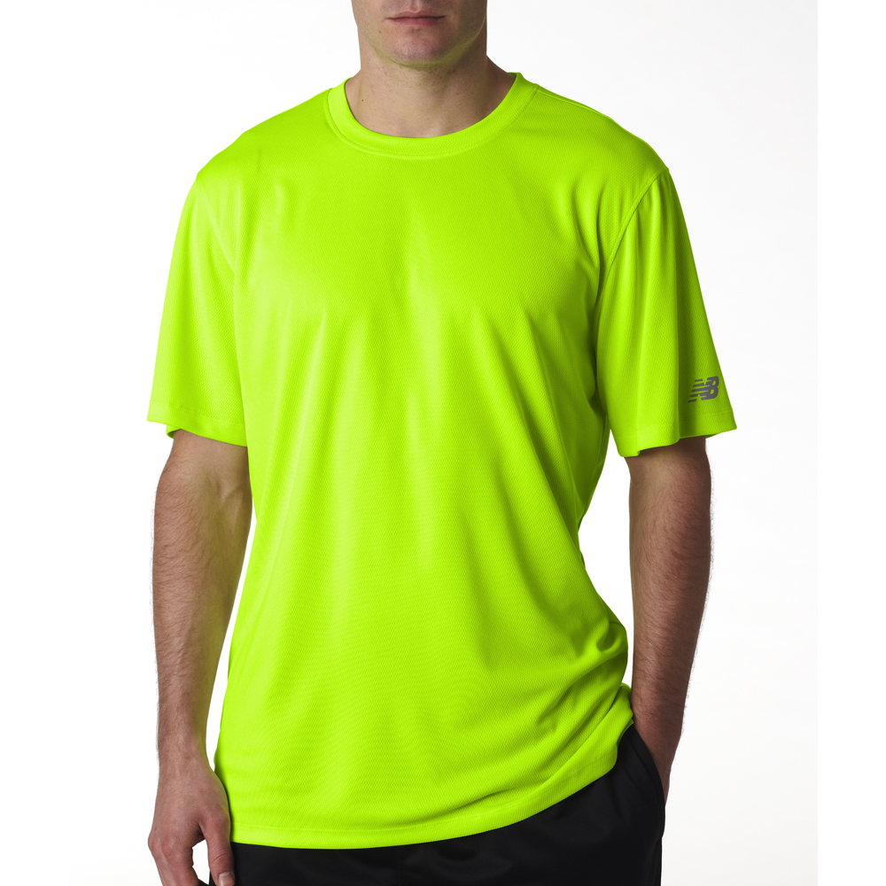 New balance men 39 s ndurance athletic t shirt for Neon green shirts for men