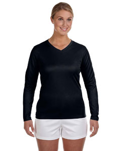 706669af7ee6e New Balance Ladies' Ndurance Athletic Long-Sleeve V-Neck T-Shirt