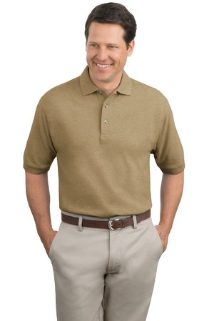 Port authority tall pique knit polo shirt for Big and tall polo shirts on sale
